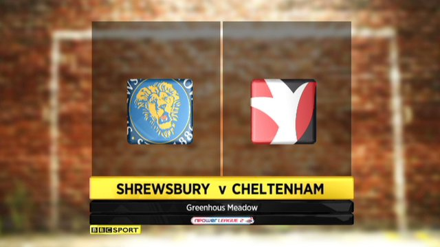 Highlights - Shrewsbury 2-0 Cheltenham