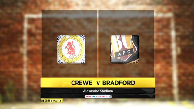 Highlights - Crewe 1-0 Bradford