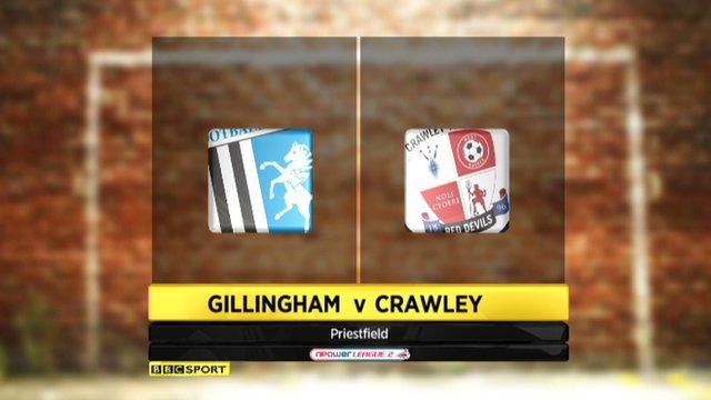 Highlights - Gillingham 0-1 Crawley