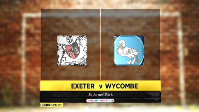 Exeter 1-3 Wycombe
