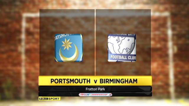 Highlights - Portsmouth 4-1 Birmingham