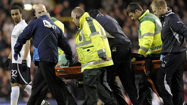 Fabrice Muamba is stretchered off