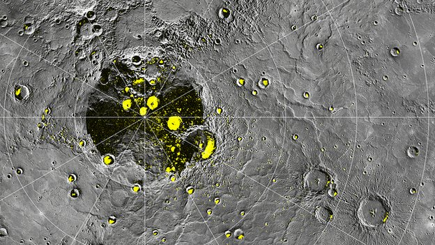 Messnger map of Mercury poles Nasa/JHUAPL/Carnegie Institution