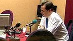 George Osborne, right, being interviewed on BBC Radio 4's Today programme