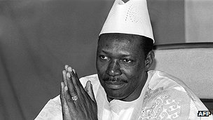 Malian leader Moussa Traore 