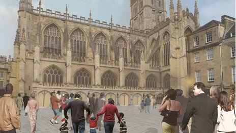 Artist's impression of Bath Abbey