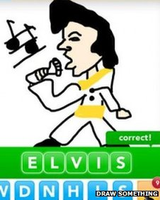 Draw Something picture of Elvis