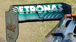 The Mercedes rear wing