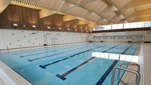 Swimming pool at Victoria Leisure Centre