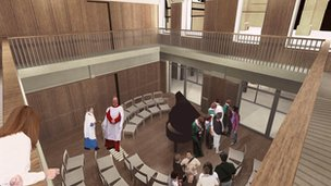 Artist's impression of choir school at Bath Abbey