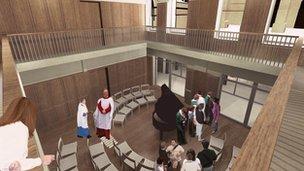Artist's impression of choir school at Bath Abbey
