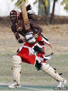 Maasai warrior batsman