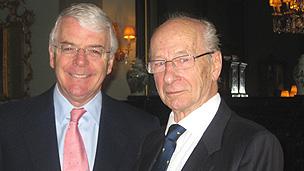 Sir John Major and Peter Gurney