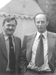 Peter Gurney (right) and Ken Howorth