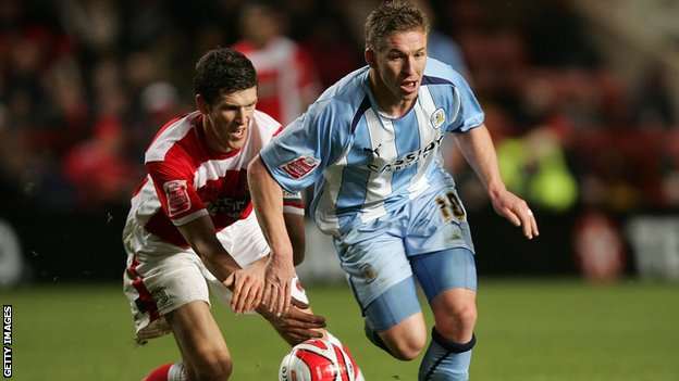 Freddy Eastwood playing for Coventry