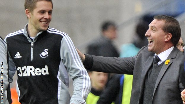 Gylfi Sigurdsson and Brendan Rodgers