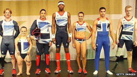 Athletes modelling Team GB kit