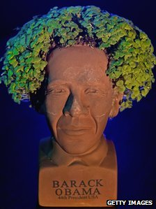 Chia pet of Barack Obama