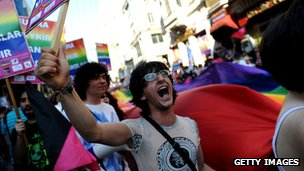 Istanbul's gay pride march, 2011
