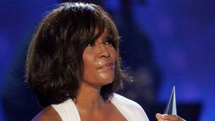 Whitney Houston at the 2009 American Music Awards at Nokia Theatre in Los Angeles