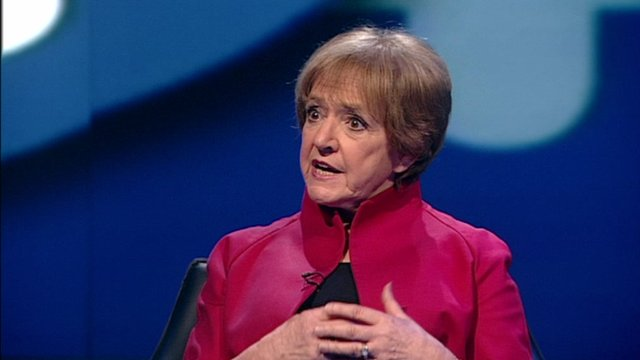 Margaret Hodge speaking on Newsnight.