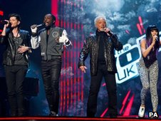 "Danny O""Donoghue, will.i.am, Tom Jones and Jessie J"