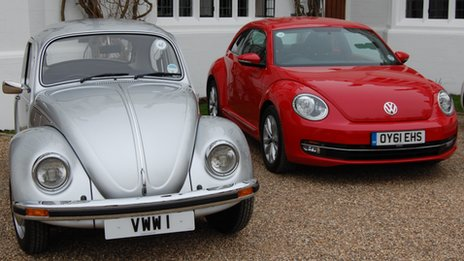 Old and new Beetle models