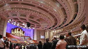 Mormon worshippers at annual conference - file pic 2009