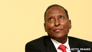 Somalia's first transitional president Abdullahi Yusuf.