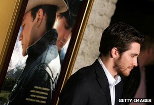 Jake Gyllenhaal at the premiere of Brokeback Mountain