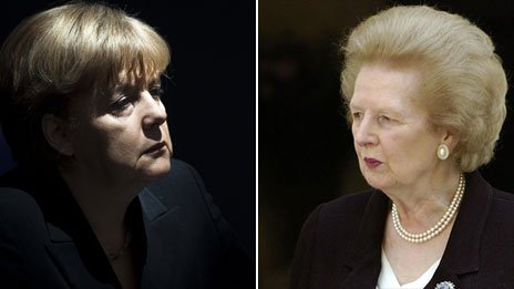 Angela Merkel and Margaret Thatcher