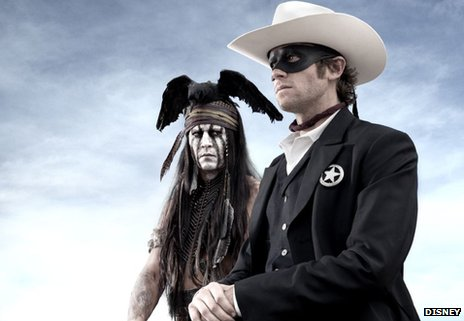 Depp, left, and Hammer in Disney's remake of The Lone Ranger