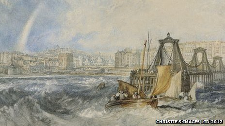 Turner watercolour of Brighton