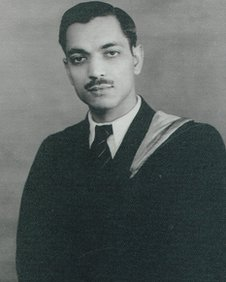 Dinanath Malhotra at university in his youth