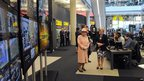 The Queen visits the BBC sport offices at MediaCityUK in Salford