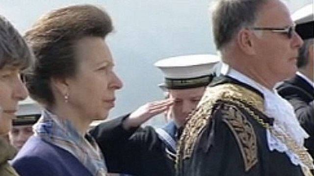 The Princess Royal at the ceremony
