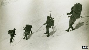 Members of the 1922 Mount Everest Expedition