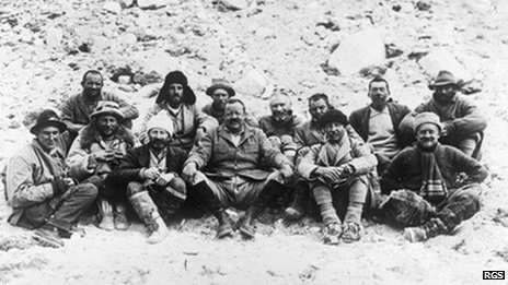 Members of the 1922 Mount Everest Expedition at Base Camp. Pic: J.B. Noel/RGS