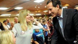 Rick Santorum at a rally in Shreveport, Louisiana (23/03/12)