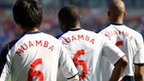 Team-mates pay tribute to Fabrice Muamba before Bolton's match against Blackburn