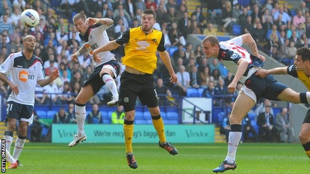 David Wheater (right) scores