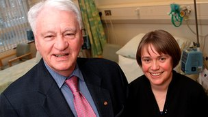 Sir Bobby Robson and Ruth Plummer