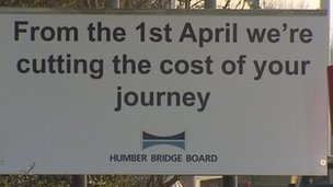 Humber Bridge sign