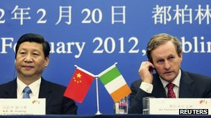 China's Vice-President Xi Jinping and Taoiseach Enda Kenny at a press conference in Dublin last month