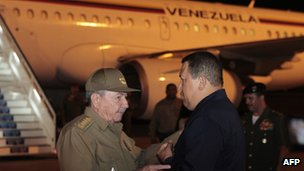 Venezuela's Hugo Chavez returns to Cuba for radiotherapy