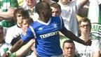 Sone Aluko celebrates his goal