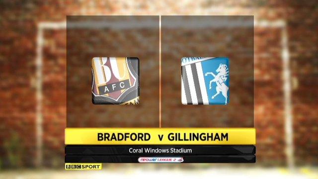 Bradford 2-2 Gillingham