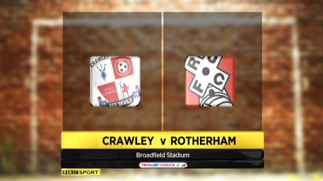 Crawley 3-0 Rotherham