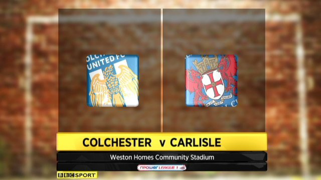 Colchester 1-1 Carlisle