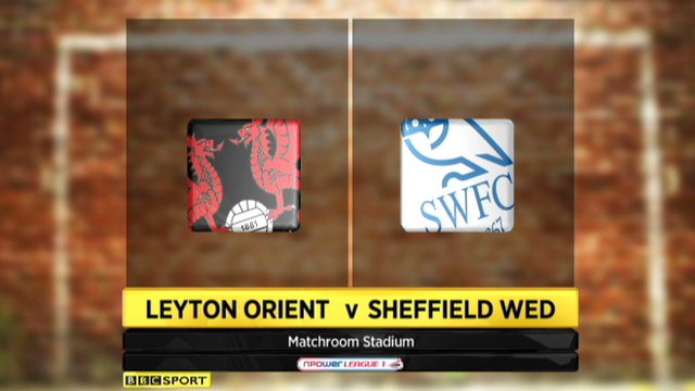 Leyton Orient -1 Sheffield Wednesday